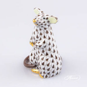Mouse 15892-0-00 VHBR1 Herend Brown Fish scale decor