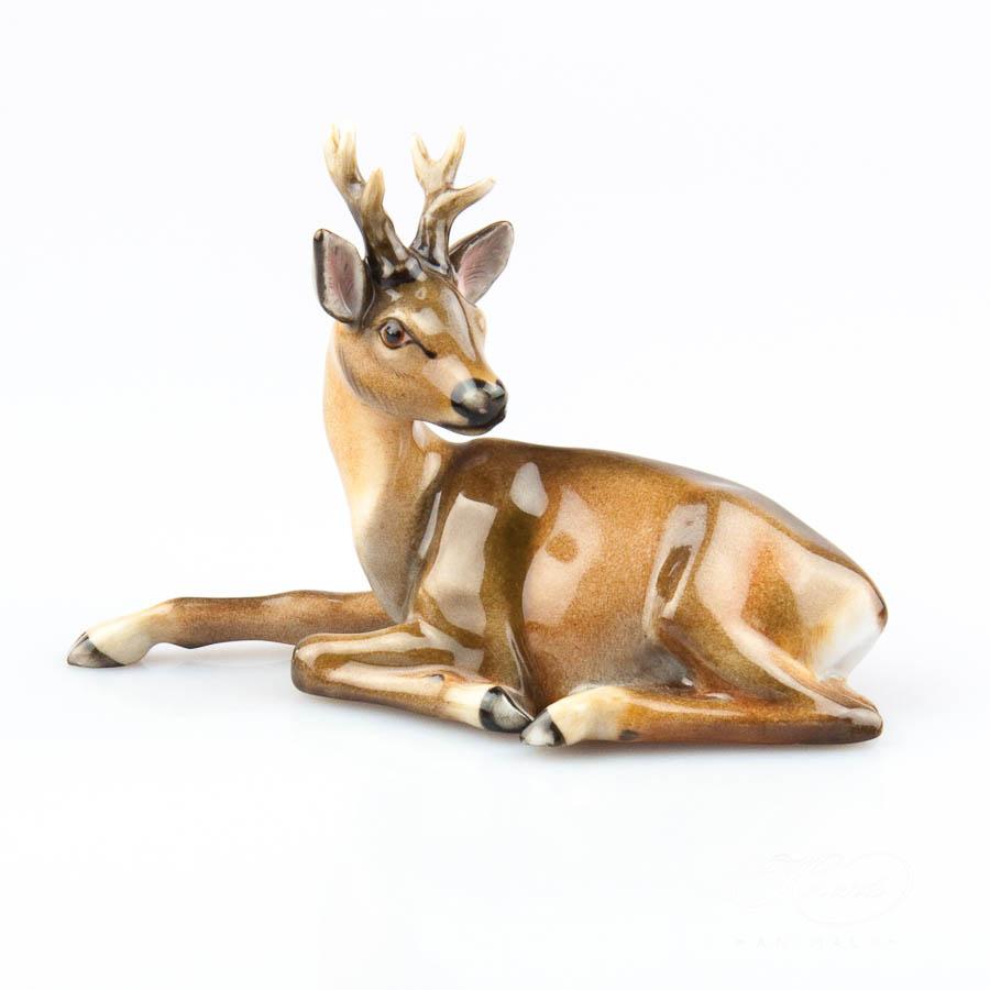 Deer 15592-0-00 MCD Naturalistic - Herend Fine china Animal Figurine